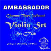 Ambassador 99126 Violin CT126 Chrome tape wound  4